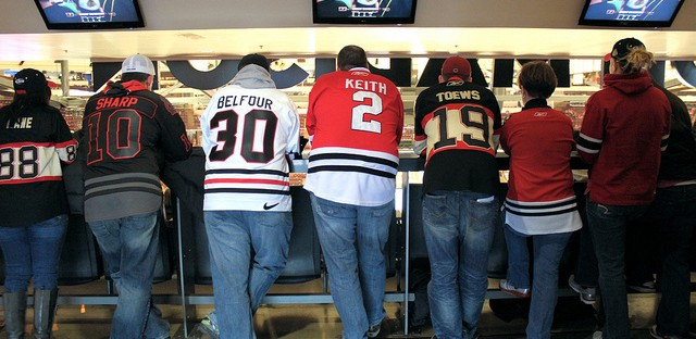 Chicago Blackhawks standing room only section at United Center, Chicago