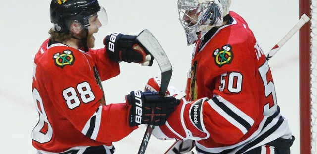 Patrick Kane and Corey Crawford had big contributions this playoff run.