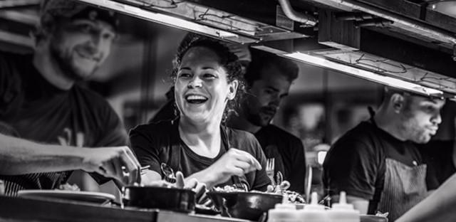 Stephanie Izard in kitchen