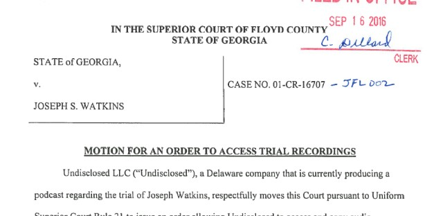 Undisclosed: The State Vs. Adnan Syed : S2, Addendum 10 – Closed Court Image