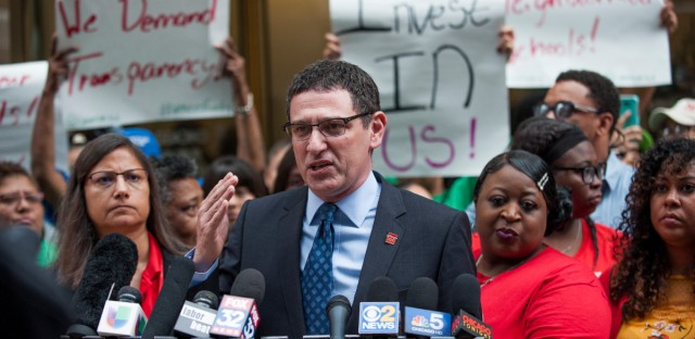 Chicago Teachers Union President Jesse Sharkey says the union expects more during upcoming contract talks given Chicago Public Schools' relative financial stability.