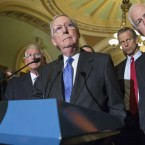 'I believe the overwhelming view of the Republican Conference of the Senate in the Senate is that this nomination should not be filled, this vacancy should not be filled by this lame duck president,' Senate Majority Leader McConnell said Tuesday.