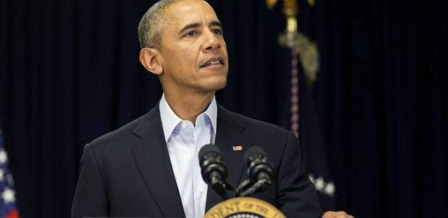 President Obama speaks to reporters about the death of Supreme Court Justice Antonin Scalia at Omni Rancho Las Palmas in Rancho Mirage, Calif., Saturday.