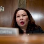 Sen. Tammy Duckworth, D-Ill., is seen on Capitol Hill in Washington, Wednesday, Jan. 16, 2019.