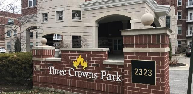 Three Crowns Park, a retirement community in Evanston