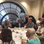 Mayor Rahm Emanuel joins the Illinois delegation for breakfast on the last day of the Democratic National Convention.