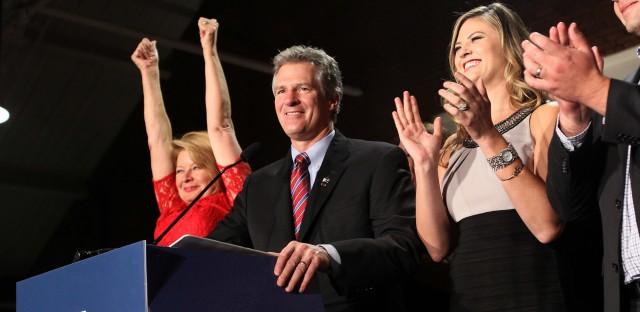Former Massachusetts Sen. Scott Brown after losing a U.S. Senate bid for New Hampshire in 2014.