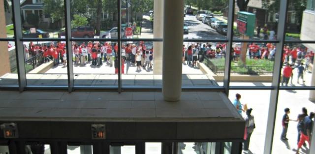 School closings drive union's push for rehiring policy