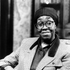 Gwendolyn Brooks, 68, poetry consultant to the Library of Congress and named poet laureate of the sate of Illinois in 1968, sits in the Poet Room of the Library of Congress in Washington, D.C., in March 1986. Brooks, who advises the Library of Congress on its literary programs and acquisitions, will end her one-year term in May.
