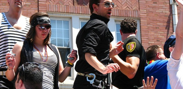 Kudos to police for handling record crowds at Pride Parade. Well, the police that had pants on