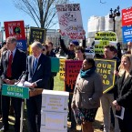 Sen. Edward Markey, D- Mass., speaks at a rally for Green New Deal, Tuesday, March 26, 2019, outside the Capitol in Washington. The Green New Deal calls for the U.S. to shift away from fossil fuels such as oil and coal and replace them with renewable sources such as wind and solar power.