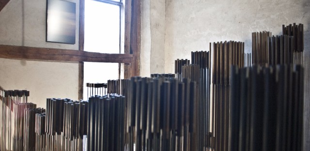 Bertoia's children are at odds over whether their father's sculptures should be moved. Val Bertoia says his father wanted the sculptures to stay in the barn. Celia Bertoia believes the collection should be moved to a location with better security and accessibility.