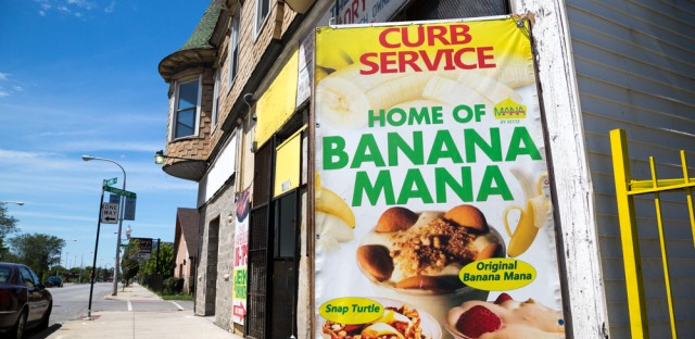 The Banana Mana is the creation of Reese Price, who owns a place named Mr. Allen's Sweet shop around 63rd and Carpenter streets.