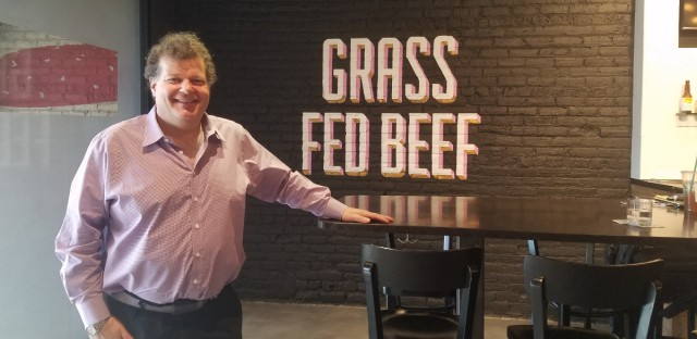 Michael Kornick is the co-owner of DMK Restaurants, known for their grass-fed beef.