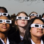 Proper eye protection is a must for anyone looking up at a solar eclipse. Eclipse glasses are far darker than regular sunglasses.