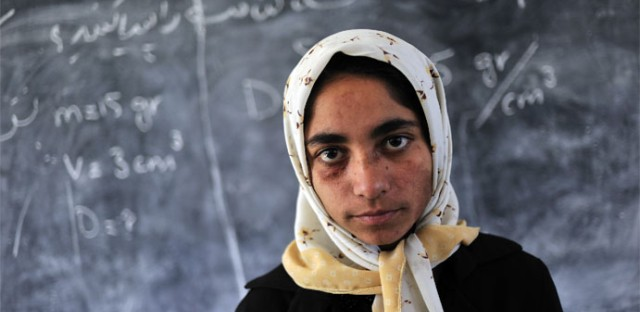 """A piece featured in Art Works Projects' """"Women Between Peace and War: Afghanistan"""""""