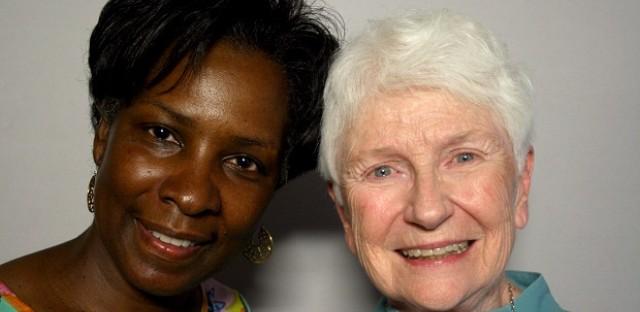 Denise D. Ferguson and Sister Joan O'Shea