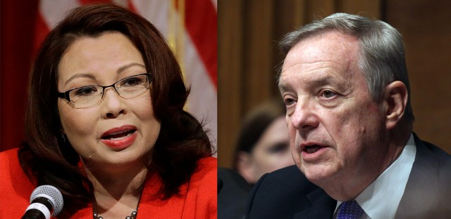 Tammy Duckworth and Dick Durbin composite photo
