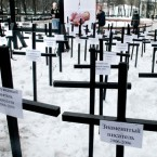 A 2008 protest to the high number of abortions taking place in Russia.