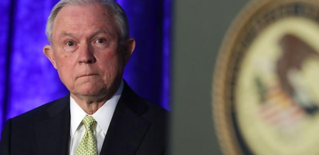 Attorney General Jeff Sessions attends the National Summit on Crime Reduction and Public Safety on Thursday in Bethesda, Md.