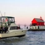 Headed out to go salmon fishing on Lake Michigan near Grand Haven.