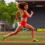 Alexi Pappas plays a young runner named Plumb Marigold in her film Tracktown. Pappas will compete for Greece at this summer's Olympics.