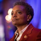 Chicago Mayor-elect Lori Lightfoot gives her acceptance speech on Tuesday, April 2, 2019. Lightfoot's election is the latest in a record number of black women elected mayor in the nation's 100 largest cities.