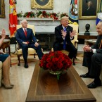 On Point with Tom Ashbrook : Week In The News: Trump Meets With Democrats, Cohen's Sentencing, Theresa May And More Image
