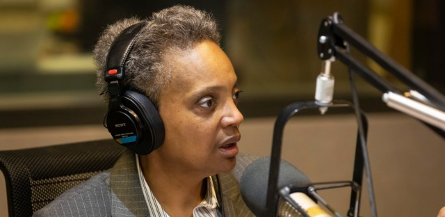 Chicago mayoral candidate Lori Lightfoot at the WBEZ studios on March 28, 2019.