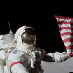 Apollo 17 astronaut Eugene Cernan, pictured here on Dec. 12, 1972, was among the last people to visit the moon.