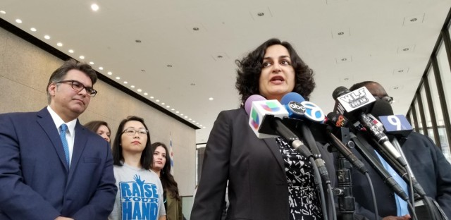 Amisha Patel, executive director of the Grassroots Collaborative, details the lawsuit against the city of Chicago.
