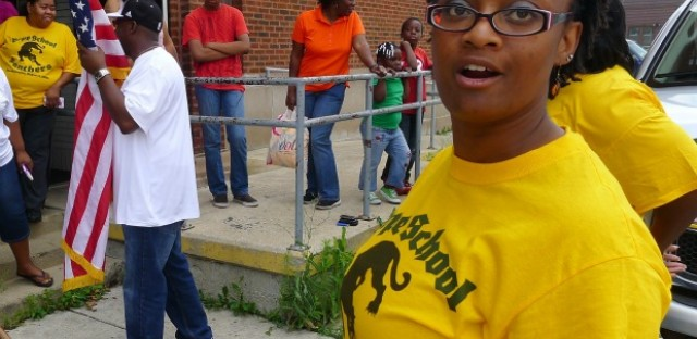 Tonia Richmond, a 1988 graduate of Nathaniel Pope Elementary School, organized an August reunion inside the building after hearing it would close. She worries it could end up housing a charter school or condominiums.