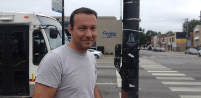 Pavel Gigov received a red light camera ticket at a North Side intersection where he felt the yellow light was too short. He says the city undermines public trust by ignoring best engineering practices with its traffic signals.