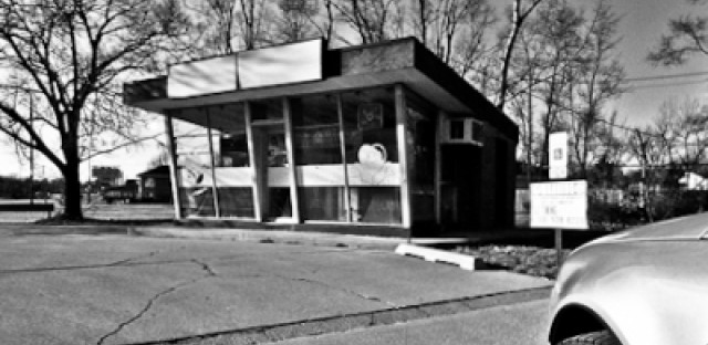 A throwback to the high-octane days of modernist gas station design