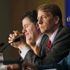 """Consumer Financial Protection Bureau Director Richard Cordray, shown last October at a panel discussion in Richmond, Va., called Tuesday's vote """"a giant setback for every consumer in this country. Wall Street won and ordinary people lost."""""""
