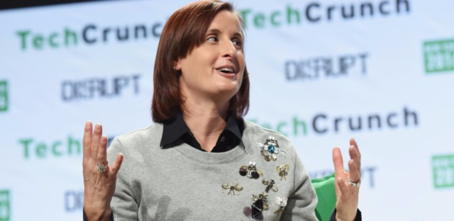 Danielle Brown speaks during TechCrunch Disrupt NY 2016. She is Google's new chief diversity officer, a position she previously held at Intel. Noam Galai/Getty Images for TechCrunch