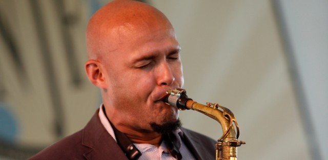 Miguel Zenon performs at the Newport Jazz Festival in Newport, R.I. on Sunday, Aug. 5, 2012.