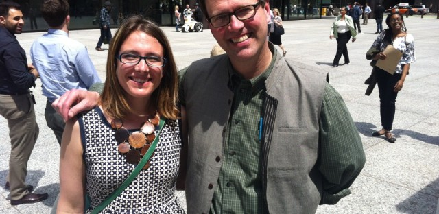 Jerome McDonnell and the Worldview team were at Daley Plaza for World Fair Trade Day