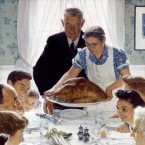 Norman Rockwell. Freedom from Want, 1942. Lent by the Norman Rockwell Museum, Norman Rockwell Art Collection Trust. All Rights Reserved.