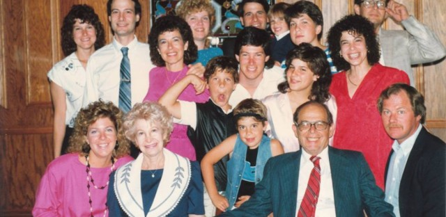 Earl Bush, front row fourth from left, with his family in the 1980s.