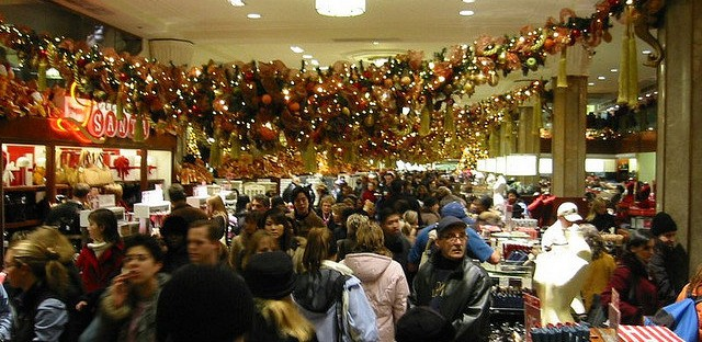 Black Friday Christmas Shoppers at Macy's