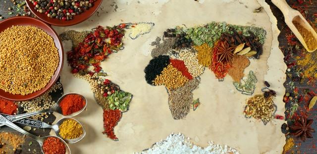 World Map Grains Fair Trade