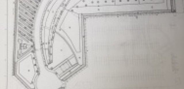 An engineer's drawing of the veterans columbarium that will be built west of the 405 freeway. It will contain 100,000 niches, each capable of holding two sets of cremated remains.