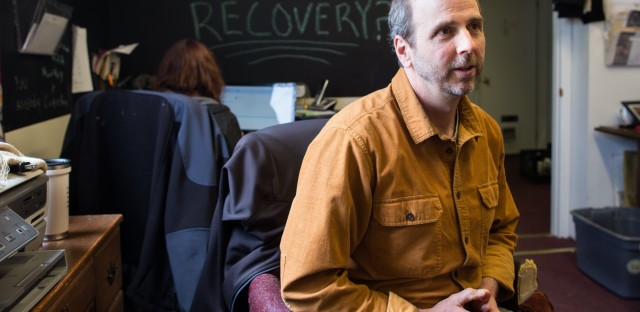 David Lidz runs the organization Ladders to Leaders in Hagerstown, Md., where he offers both beds and jobs for men transitioning out of drug treatment.