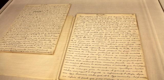 An early longhand manuscript of de Beauvoir's The Second Sex.