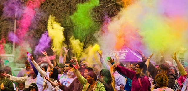 Holi celebration at Riverwalk Naperville