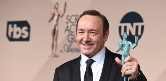 Kevin Spacey was awarded outstanding male actor in a drama series for House of Cards at the Screen Actors Guild Awards in January 2016.