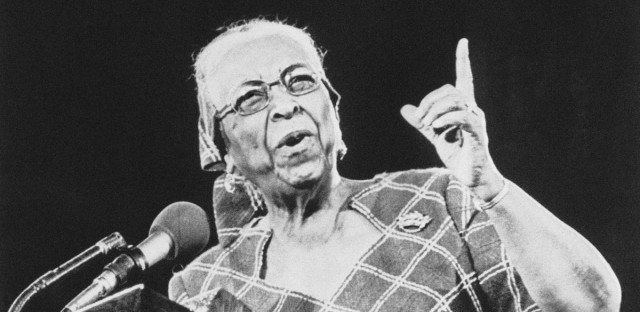 "Famed gospel singer Ethel Waters was given a standing ovation after she spoke at the Billy Graham crusade in Seattle's Kingdome on Sunday, May 10, 1976 . The famed singer sang ""His Eye Is On the Sparrow."""