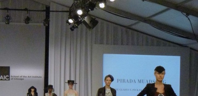 Senior Pirada Muadsong's collection as part of SAIC's 2012 Fashion Show
