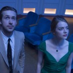 Ryan Gosling and Emma Stone are aspiring artists in the movie musical La La Land. The film has been nominated for seven Golden Globe awards.